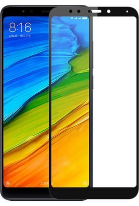 KNY Xiaomi Redmi 6X Full Yapışan Renkli Cam Ekran Koruyucu Siyah