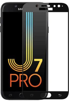 KNY Samsung Galaxy J7 Pro J730 Full Yapışan Renkli Cam Ekran Koruyucu