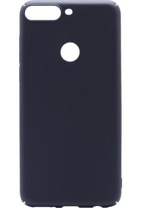 KNY Huawei Y7 2018 Kılıf İnce Sert Arka Kapak Rubber + Nano Cam Ekran Koruyucu