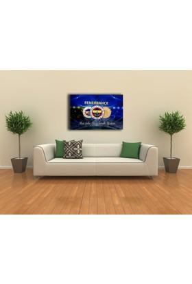 Veronya 3D Dijital Baskı, Led Işıklı Kanvas Tablo, Fenerbahçe Amblemleri 40x60
