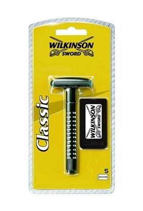 Wilkinson Sword Klasik Tıraş Bıçağı Makinesi Ve 5 Yedek Bıçak