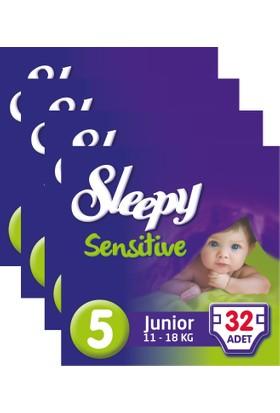 Sleepy Sensitive Bebek Bezi 5 Beden Junior Jumbo Paket 32X4 128 Adet