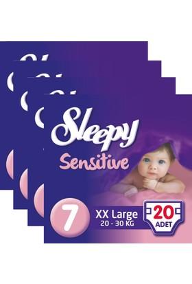 Sleepy Sensitive Bebek Bezi 7 Beden XXL Jumbo Paket 20X4 80 Adet