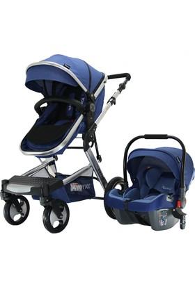 Yoyko Elegance Travel Sistem Bebek Arabası 3 in 1 Mavi Silver