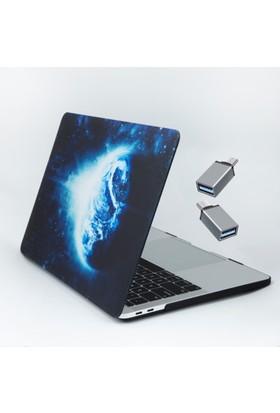 Macstorey Apple Yeni Macbook Pro A1707 15 inç 15.4 inç Kılıf Kapak Hard Case Earth Kutulu 1248