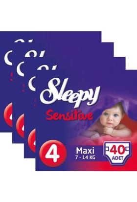 Sleepy Sensitive Bebek Bezi 4 Beden Maxi Jumbo Paket 40X4 160 Adet
