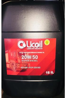 Licoil süper 20w50 benzinli&dizel motor yağı 16LT Bidon