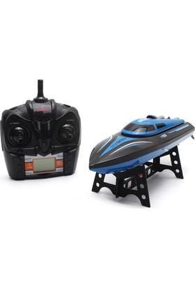 Black Horse H100-1 2.4 Ghz Uzaktan Kumandalı Şarjlı Sürat Teknesi - Mavi