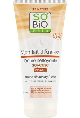 Organik Sertifikalı Eşek Sütlü Yüz Temizleme Kremi 150 ml