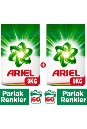 Ariel Toz Çamaşır Deterjanı Parlak Renkler 9 kg + Parlak Renkler 9 kg