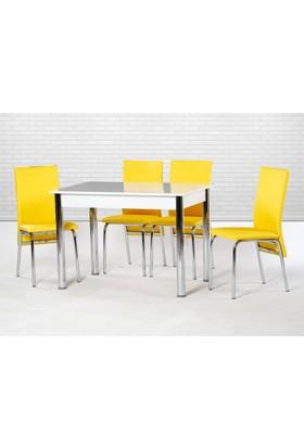Enzi En201 Mutfak Masa Takımı - Sarı