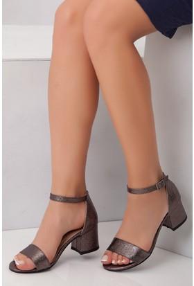 Tarçın TRC01-0079 Kadın Platin Topuklu Ayakkabı
