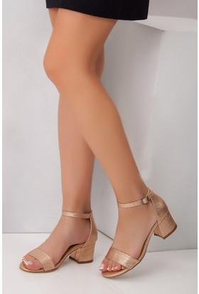 Tarçın TRC01-0079 Kadın Roze Topuklu Ayakkabı
