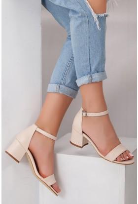 Tarçın TRC01-0079 Kadın Taş Topuklu Ayakkabı