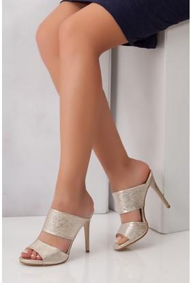 Tarçın TRC01-0104 Kadın Sarı Topuklu Ayakkabı