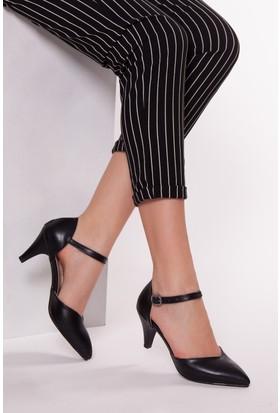 Tarçın TRC01-0175/1 Kadın Siyah Topuklu Ayakkabı