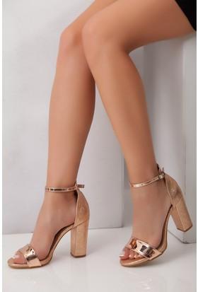 Tarçın TRC01-5005 Kadın Roze Plat Topuklu Ayakkabı