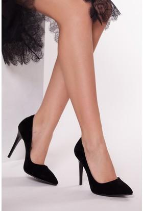 Tarçın TRC01 Kadın Siyah Süet Stiletto