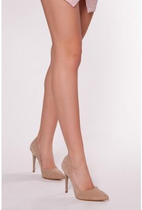 Tarçın TRC01 Kadın Taş Süet Stiletto