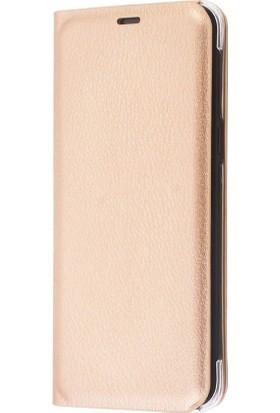 Sonmodashop Samsung Galaxy A6 2018 Flip Cover Kapaklı Kılıf + Ekran Koruyucu Cam