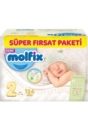 Molfix Bebek Bezi 2 Beden Mini Süper Fırsat Paketi 124 Adet