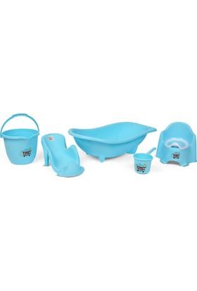 Babybee Banyo Küvet Seti 5 Parça Mavi
