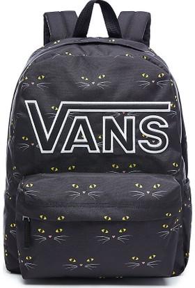 Vans Realm Flying V Backpack Sırt Çantası Black Cat