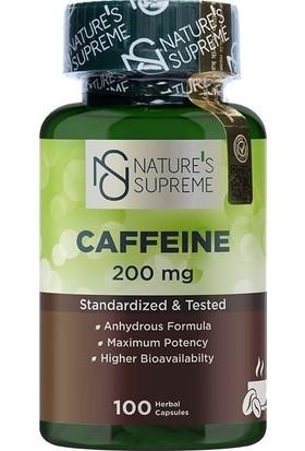Nature's Supreme Caffeine 200 mg 100 Kapsül