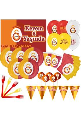 Galatasaray 8 Kişilik Parti Seti + İsimli Afiş