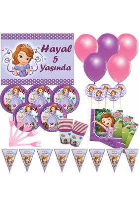 Masal Şekerleme 8 Kişilik Sofia Doğum Günü Seti
