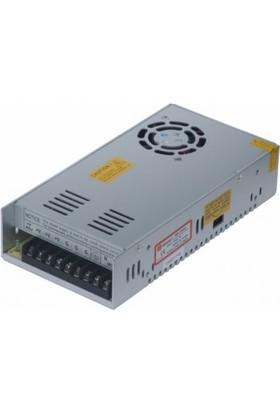Mervesan Metal Kasa Led Trafosu 12 Volt 29A 350 Watt (Ac/Dc)