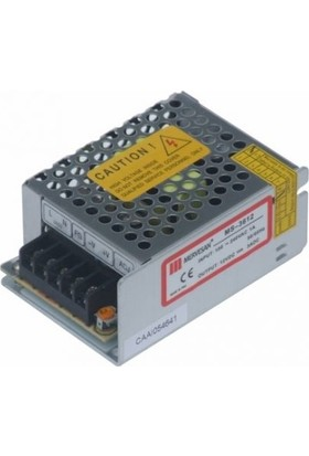 Mervesan Metal Kasa Led Trafosu 12 Volt 3A 36 Watt (Ac/Dc)