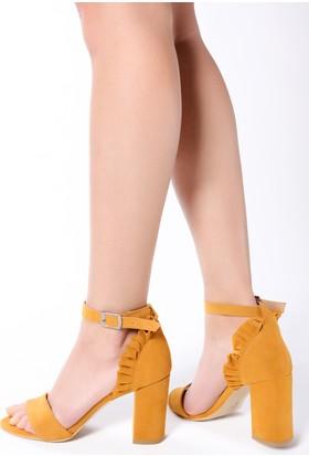 Rovigo Kadın Hardal Sandalet 1111900253
