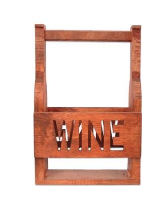 Utyawood Wine Dekoratif Ahşap Şaraplık