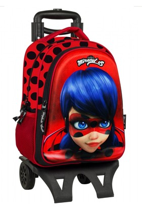 Ümit Çanta Miraculous Ladybug 3D Çekçekli Okul - Sırt Çantasu - 2036