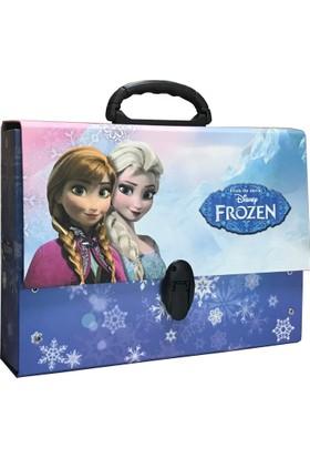 Keskin Frozen Simli Saplı Çanta - Klasör