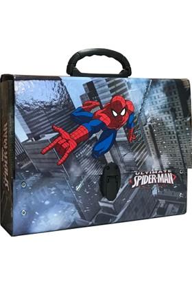 Keskin Spiderman (Örümcek Adam) Saplı Çanta - Klasör