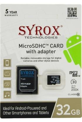Syrox 32Gb Hafıza Kartı Micro SD