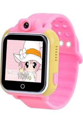 Sentar V80-07 Wi-Fi Bluetooth 3G GPS Özellikli Android Akıllı Çocuk Saati - Pembe