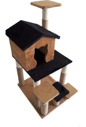 PLarya Design Peluş Kedi Tırmalama Tahtası ve Oyun Evi