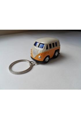 Hediye Aşkı Kişiye İsme Özel Sarı Minibus Plakalı Metal Vosvos Anahtarlık Beetle Volkswagen T1