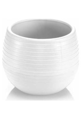 Yalova Fidan Market Beyaz Elvan Saksı 1.3 Litre