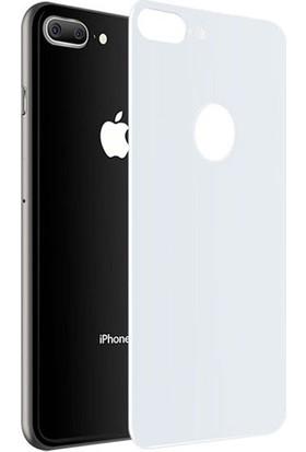 Lito 3D Full Cover iPhone 8 Cam Ekran Koruyucu Arka / Beyaz LT05-IP8-A-B