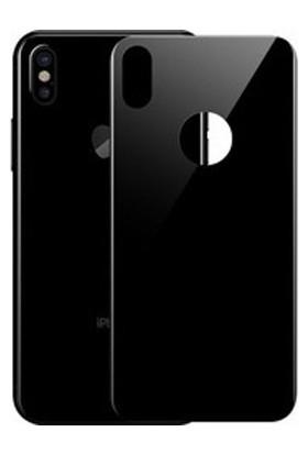 Lito 3D Full Cover iPhone X Cam Ekran Koruyucu Arka / Siyah LT05-IPX-A-S