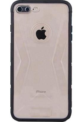 Lito Shockproof TPU Darbeye Dayanıklı iPhone 8 Plus Kılıf Siyah LT07-IP8P-S