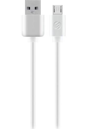 S-Link 1.3A Micro USB Data Şarj Kablosu 1 Metre Beyaz AND-KC13B