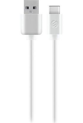 S-Link 2A USB To Type C Data Şarj Kablosu 1 Metre Beyaz TPC-KC15B