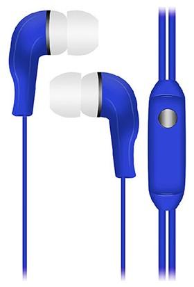 S-Link Allegro Kulakiçi Mikrofonlu Kulaklık Mavi SL-KU130-M