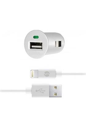 S-Link 1A iPhone Araç Şarj Cihazı Ve 1.3A Lightning Kablosu Beyaz IP-195B