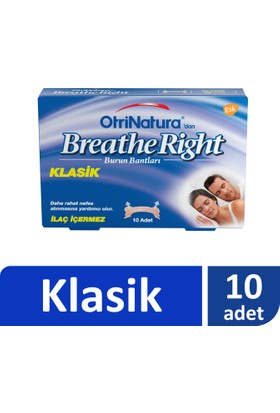 Breathe Right Burun Bandı Klasik Normal Boy 10'lu